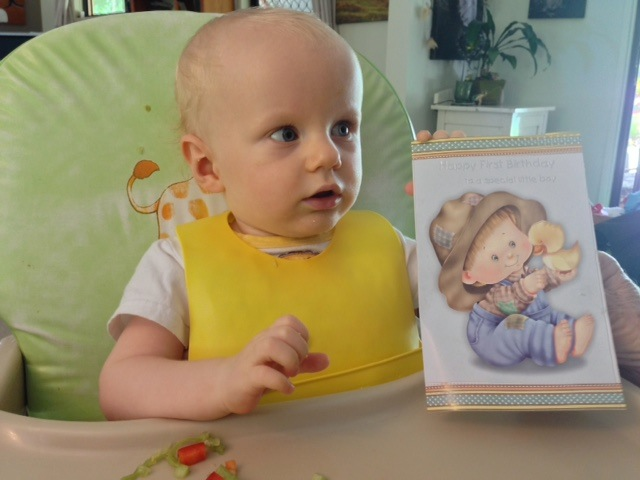 Toby thanking Fertility Solutions team for his 1st birthday card – we hope you had an amazing day little man :)
