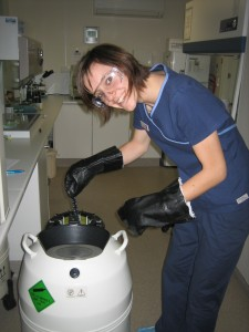 Auditing Frozen Embryo Liquid NitrogenTank