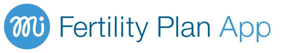 Download our Fertility Plan app online for management of your fertility journey
