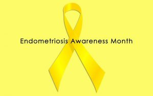 We Support EndoMarch - Endometriosis Awareness Month Ribbon